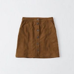 Abercrombie 2019 faux suede mini skirt